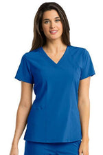 Barco One Scrub Top 4 Way Stretch XXS / New Royal / 50% Polyester 43% Recycled Polyester 7% Spandex Barco One - Ladies Vet Scrub Top 5105