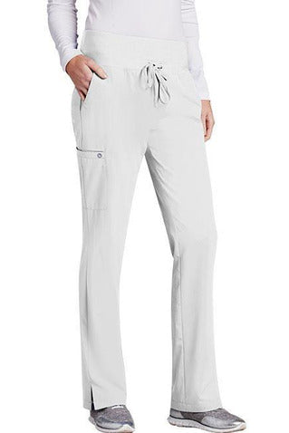 Barco One Scrub Pant 4 Way Stretch XXS / White / 50% Poly/43% Recycled Poly/7% Spandex Barco One Ladies Vet Pant 5206