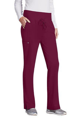 Barco One Scrub Pant 4 Way Stretch XXS / Wine / 50% Poly/43% Recycled Poly/7% Spandex Barco One Ladies Vet Pant 5206