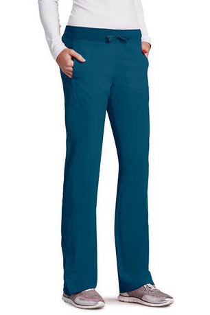 Barco One Scrub Pant 4 Way Stretch XXSP / Bahama / 50% Poly/43% Recycled Poly/7% Spandex Barco One | Ladies Vet Scrub Pant 5205 Petite