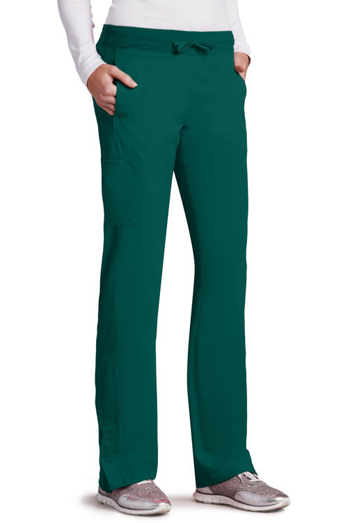 Barco One Scrub Pant 4 Way Stretch XXSP / Hunter / 50% Poly/43% Recycled Poly/7% Spandex Barco One | Ladies Vet Scrub Pant 5205 Petite