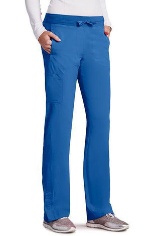 Barco One Scrub Pant 4 Way Stretch XXSP / New Royal / 50% Poly/43% Recycled Poly/7% Spandex Barco One | Ladies Vet Scrub Pant 5205 Petite
