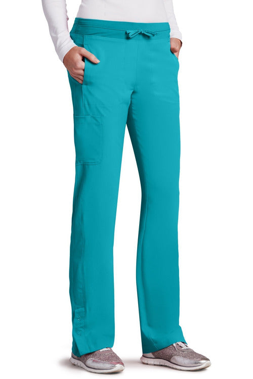Barco One Scrub Pant 4 Way Stretch XXSP / Teal / 50% Poly/43% Recycled Poly/7% Spandex Barco One | Ladies Vet Scrub Pant 5205 Petite
