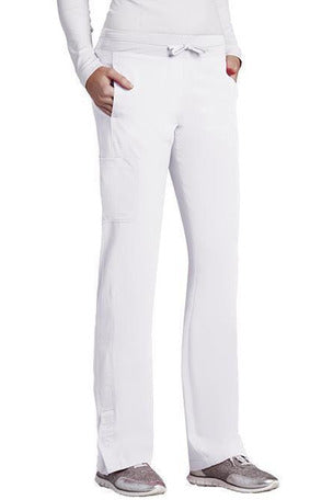Barco One Scrub Pant 4 Way Stretch XXSP / White / 50% Poly/43% Recycled Poly/7% Spandex Barco One | Ladies Vet Scrub Pant 5205 Petite