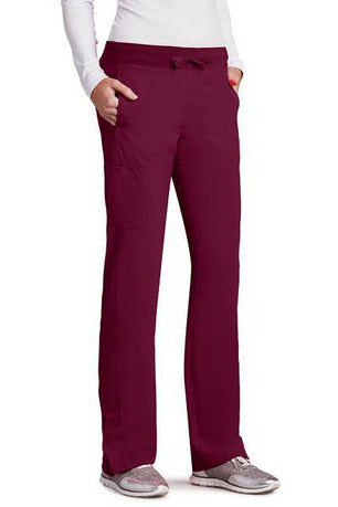 Barco One Scrub Pant 4 Way Stretch XXSP / Wine / 50% Poly/43% Recycled Poly/7% Spandex Barco One | Ladies Vet Scrub Pant 5205 Petite