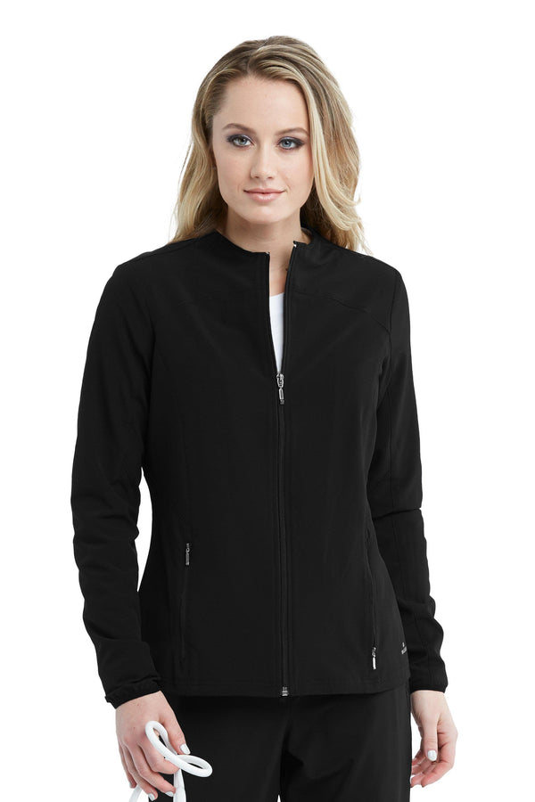 BarcoOne Wellness Jacket 2XL / 01 Black Ladies Serenity Scrub Jacket 2XL-3XL
