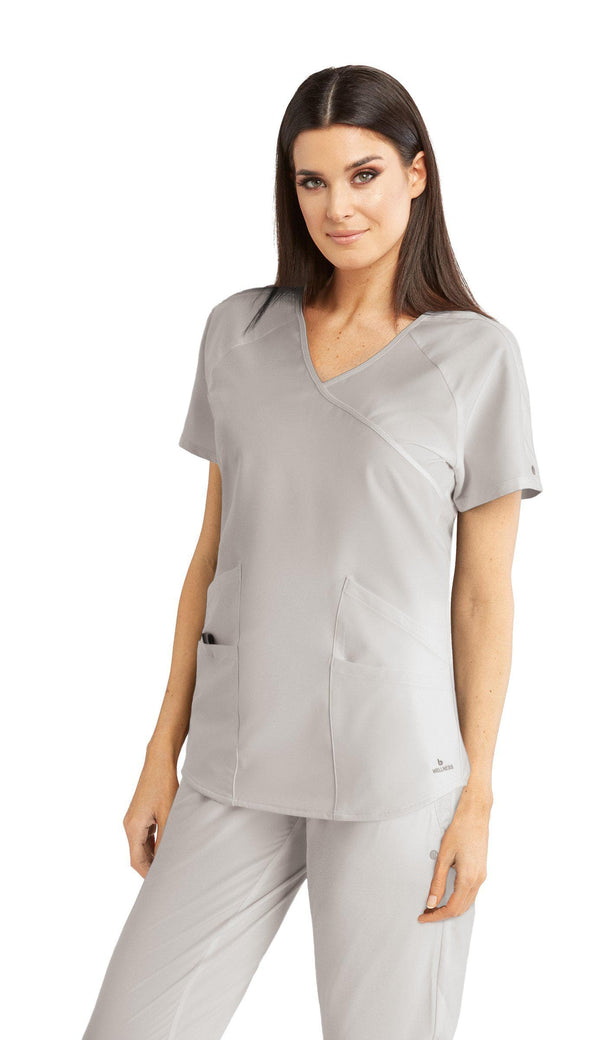 BarcoOne Wellness Scrub Top 2XL / 10 White Ladies Radiance Scrub Top 2XL-3XL