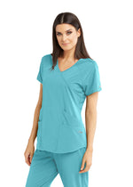 BarcoOne Wellness Scrub Top 2XL / 1968 Aqua Sea Ladies Radiance Scrub Top 2XL-3XL