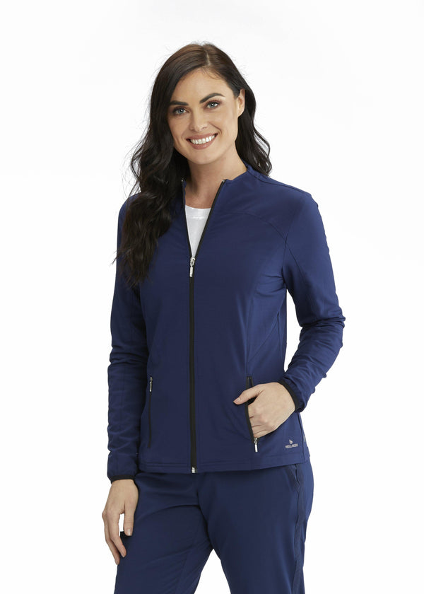 BarcoOne Wellness Jacket 2XL / 23 Indigo Ladies Serenity Scrub Jacket 2XL-3XL