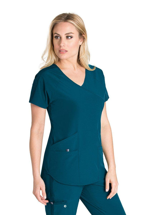 BarcoOne Wellness Scrub Top 2XL / 328 Bahama Ladies Radiance Scrub Top 2XL-3XL