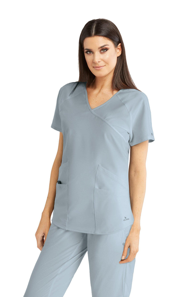 BarcoOne Wellness Scrub Top 2XL / 471 Moonstruck Ladies Radiance Scrub Top 2XL-3XL