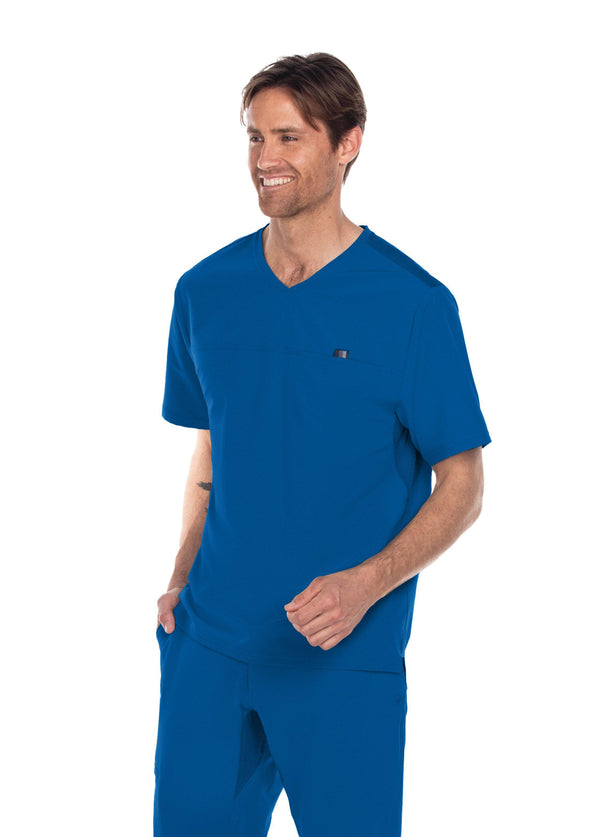 BarcoOne Wellness Scrub Top XS / 08 New Royal Men's Summit Scrub Top