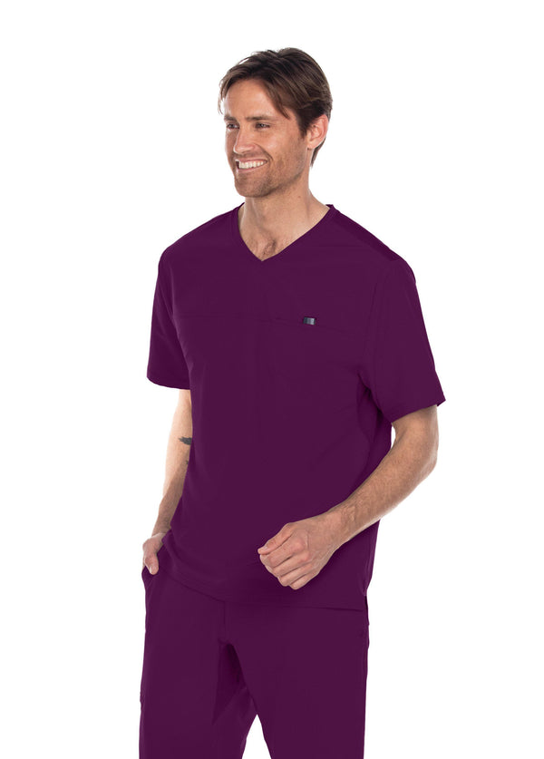 BarcoOne Wellness Scrub Top XS / 65 Wine Men's Summit Scrub Top
