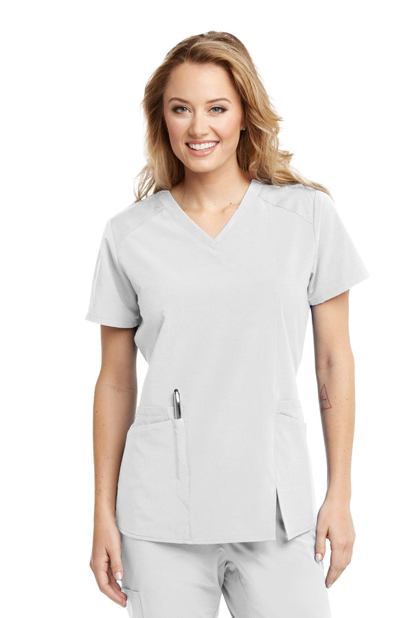 BarcoOne Wellness Scrub Top XXS / 10 White Ladies Eclipse Scrub Top