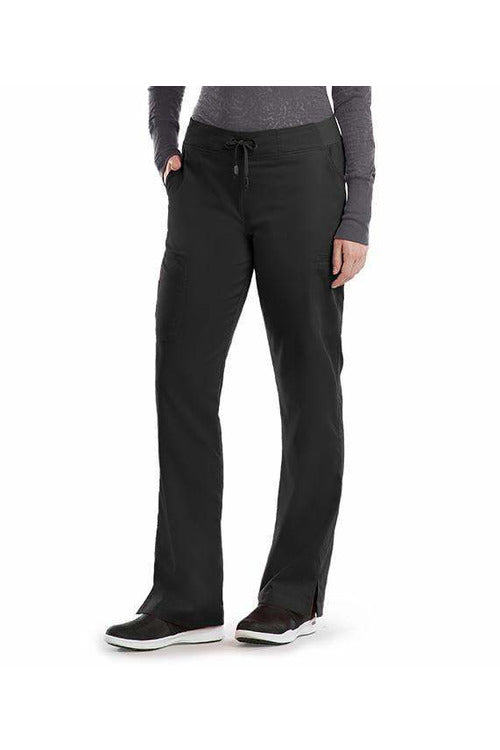 Grey's Anatomy Scrub Pant 2 Way Stretch 2XL / Black / 77% Polyester / 23% Rayon Grey's Anatomy - Ladies Nurse Scrub Pant 2XL-5XL 4277