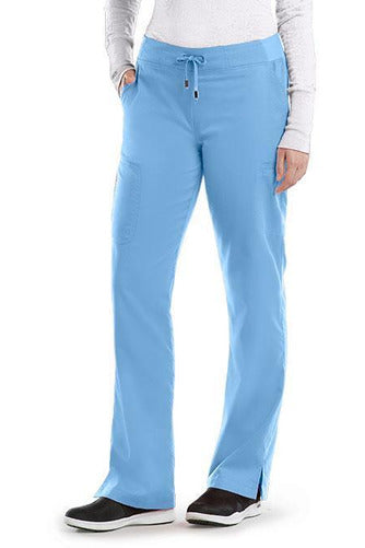 Grey's Anatomy Scrub Pant 2 Way Stretch 2XL / Ciel / 77% Polyester / 23% Rayon Grey's Anatomy - Ladies Nurse Scrub Pant 2XL-5XL 4277