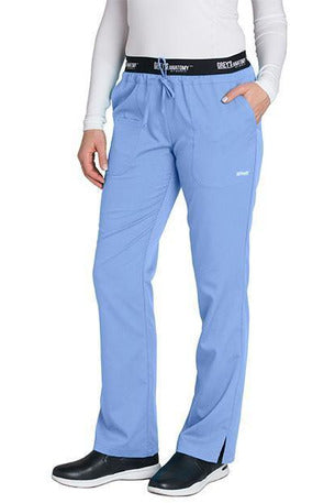 Grey's Anatomy Scrub Pant 2 Way Stretch 2XL / Ciel / 77% Polyester / 23% Rayon Grey's Anatomy Active - Ladies Best Nurse Scrub Pant XL-5XL 4275