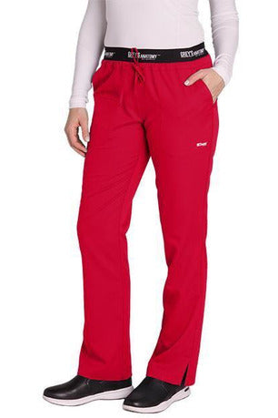 Grey's Anatomy Scrub Pant 2 Way Stretch 2XL / Scarlet Red / 77% Polyester / 23% Rayon Grey's Anatomy Active - Ladies Best Nurse Scrub Pant XL-5XL 4275