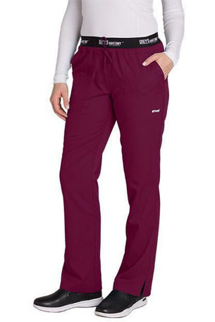 Grey's Anatomy Scrub Pant 2 Way Stretch 2XL / Wine / 77% Polyester / 23% Rayon Grey's Anatomy Active - Ladies Best Nurse Scrub Pant XL-5XL 4275