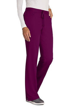 Grey's Anatomy - Women's Nurse Scrub Pant 4232 2XL - 5XL Scrub Pant Grey's Anatomy 2XL Wine 77% Polyester / 23% Rayon