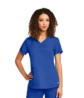 Ladies 2 Pocket Scrub Top