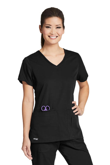 Ladies 4 Pocket Scrub Top 2XL-5XL