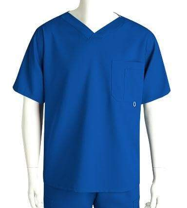 Grey's Anatomy Classic Scrub Top 2XL / 08 New Royal Men's 3 Pocket Scrub Top 2XL - 5XL