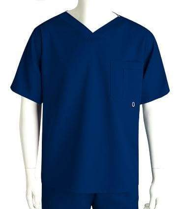 Grey's Anatomy Classic Scrub Top 2XL / 23 Indigo Men's 3 Pocket Scrub Top 2XL - 5XL