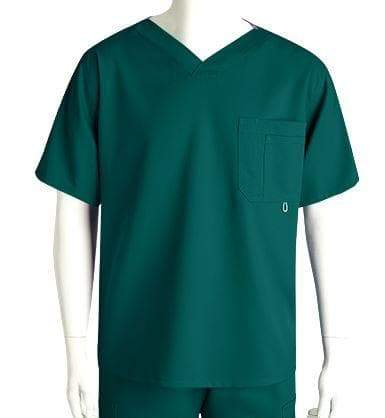 Grey's Anatomy Classic Scrub Top 2XL / 37 Hunter Men's 3 Pocket Scrub Top 2XL - 5XL