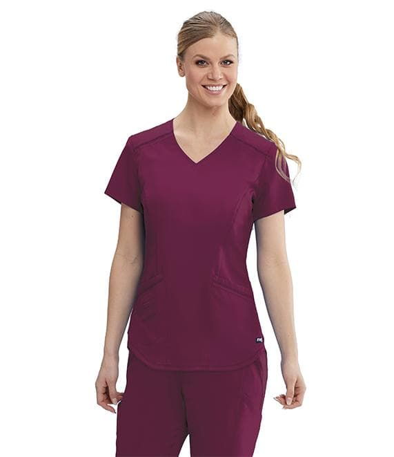 Grey's Anatomy Classic Scrub Top XS / 65 Wine Ladies Avana Scrub Top
