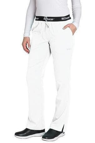 Grey's Anatomy Classic Scrub Pant XXS / 10 White Ladies 3 Pocket Scrub Pant Petite