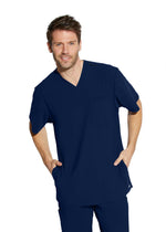 Grey's Anatomy Edge Scrub Top 2XL / 23 Indigo Men's Hydro Scrub Top 2XL-3XL