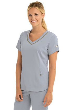 Grey's Anatomy IMPACT Scrub Top 4 Way Stretch Grey's Anatomy IMPACT - Ladies Nurses Scrub Top 7187