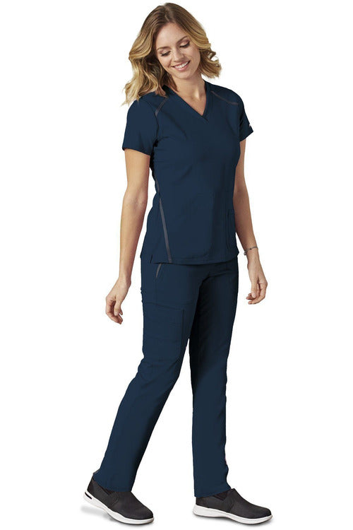 Grey's Anatomy IMPACT - Women's Premium Nurses Scrub Top 7188 Scrub Top 4 Way Stretch Grey's Anatomy IMPACT Indigo XXS Poly/Rayon/Spandex