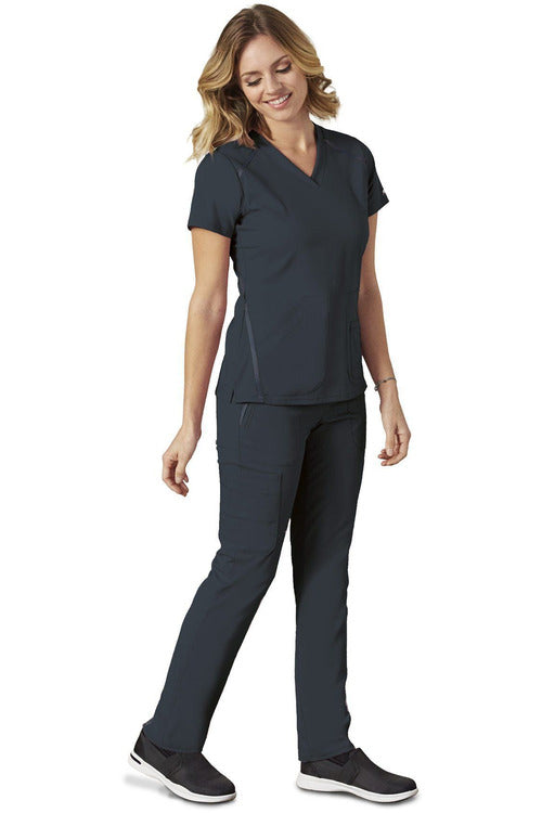 Grey's Anatomy IMPACT - Women's Premium Nurses Scrub Top 7188 Scrub Top 4 Way Stretch Grey's Anatomy IMPACT Steel XXS Poly/Rayon/Spandex