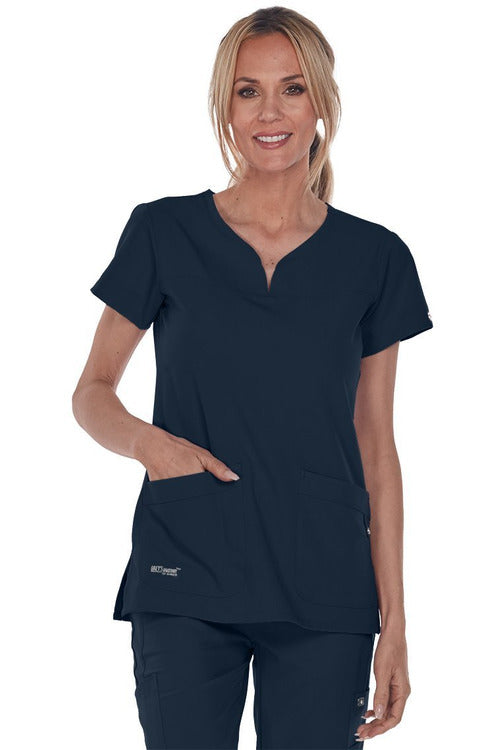 Grey's Anatomy Signature Scrub Top 4 Way Stretch Grey's Anatomy Signature - Ladies BEST Scrub Top 2121