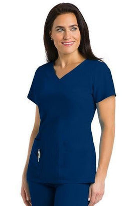 Ladies 3 Pocket Scrub Top 2XL-5XL