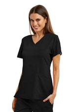 Grey's Anatomy Signature Scrub Top 2XL / 01 Black Ladies Astra Scrub Top 2XL-5XL