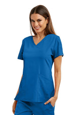 Grey's Anatomy Signature Scrub Top 2XL / 08 New Royal Ladies Astra Scrub Top 2XL-5XL