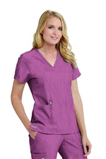 Grey's Anatomy Signature Scrub Top 2XL / 1561 Wine Shade Ladies Astra Scrub Top 2XL-5XL