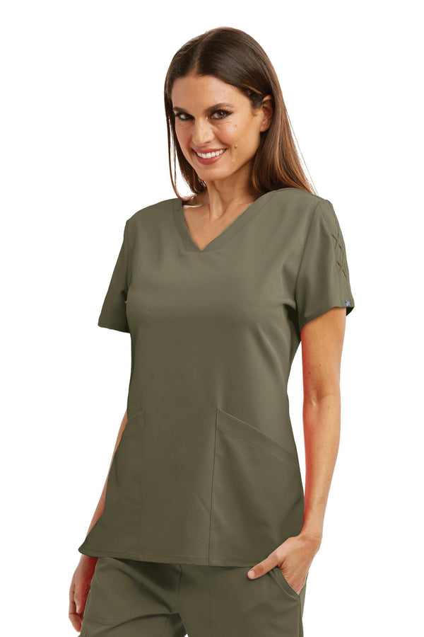 Grey's Anatomy Signature Scrub Top 2XL / 312 Olive Ladies Astra Scrub Top 2XL-5XL