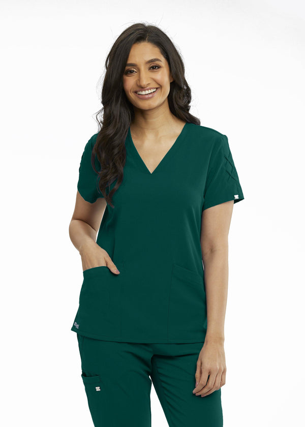 Grey's Anatomy Signature Scrub Top 2XL / 37 Hunter Ladies Astra Scrub Top 2XL-5XL