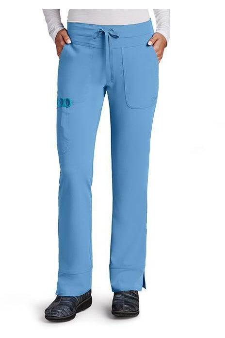 Grey's Anatomy Signature Scrub Pant 4 Way Stretch 2XL / Ciel / 71% Polyester / 24% Rayon / 5% Spandex Grey's Anatomy Signature - Ladies Dental Scrub Pant 2XL-5XL 2207