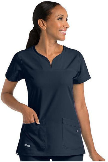 Ladies Notch Neck Scrub Top 2XL-5XL