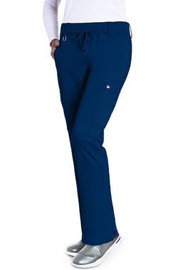 Grey's Anatomy Signature Scrub Pant 4 Way Stretch 2XL / Indigo / 71% Polyester / 24% Rayon / 5% Spandex Grey's Anatomy Signature - Ladies Olivia Scrub Pant 2X-5X 2218