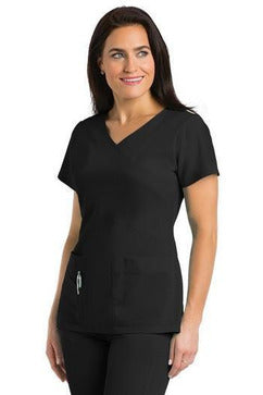 Grey's Anatomy Signature - Women's Dentist Scrub Top 2XL-5XL 2130 Scrub Top 4 Way Stretch Grey's Anatomy Signature