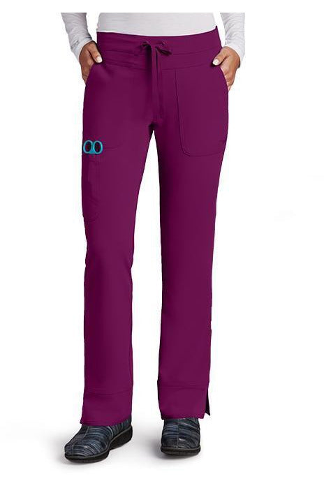 Grey's Anatomy Signature Scrub Pant 4 Way Stretch 2XL / Wine / 71% Polyester / 24% Rayon / 5% Spandex Grey's Anatomy Signature - Ladies Dental Scrub Pant 2XL-5XL 2207