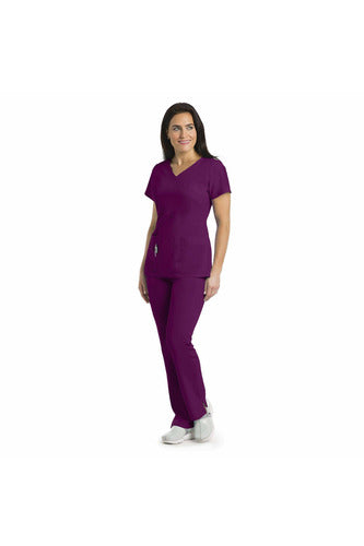 Ladies 3 Pocket Scrub Top