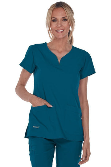 Ladies Notch Neck Scrub Top