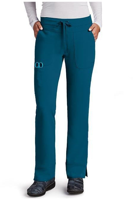 Grey's Anatomy Signature Scrub Pant 4 Way Stretch XXS / Bahama / 71% Polyester / 24% Rayon / 5% Spandex Grey's Anatomy Signature - Ladies Dental Scrub Pant 2207